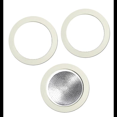 Bialetti filter och packningar för 9 koppars bryggare i aluminium