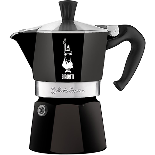 Bialetti Moka Express Sort Espressokande 1 kop