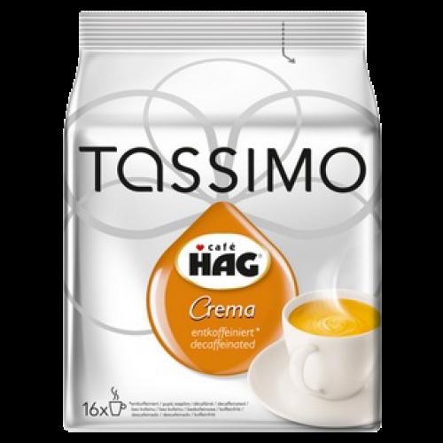 Café HAG Crema koffeinfri Tassimo kaffekapsler 16st