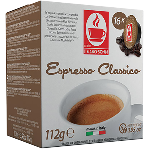 Caffè Bonini Classico A Modo Mio kaffekapsler 16st