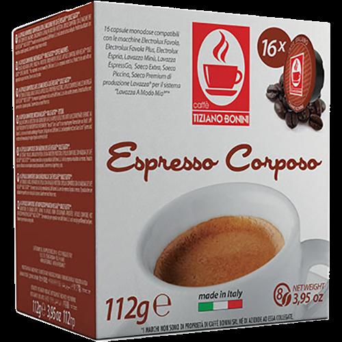 Caffè Bonini Corposo A Modo Mio kaffekapsler 16st