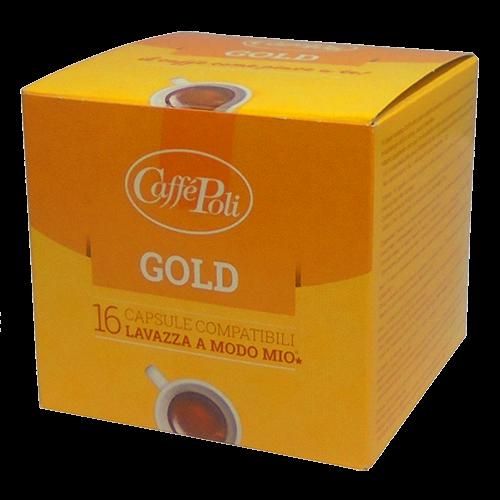 Caffè Poli A Modo Mio Gold kaffekapsler 16st