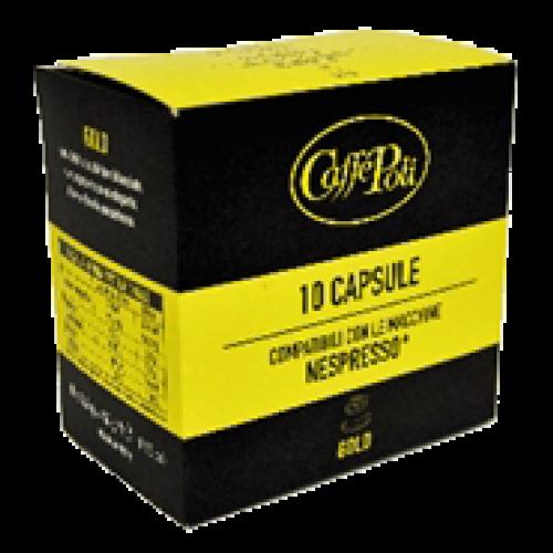 Caffè Poli Gold Nespresso kaffekapsler 10st