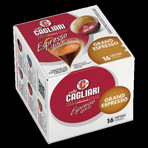Cagliari Grand Espresso A Modo Mio kaffekapsler 16st