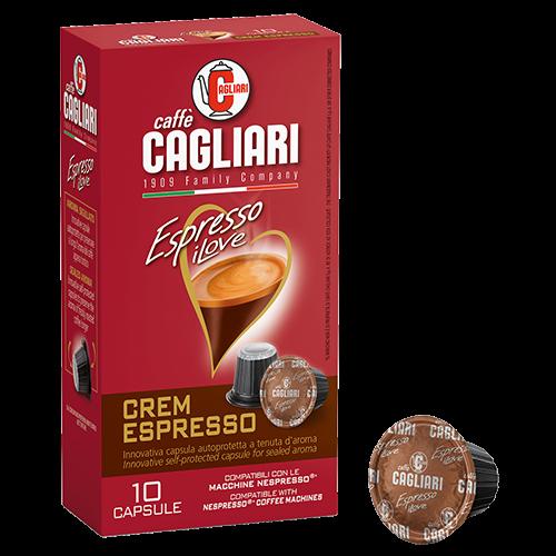 Cagliari Crem Espresso kaffekapsler til Nespresso 10st