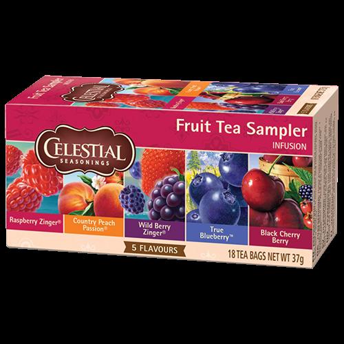 Celestial tea Fruit tea Sampler tebreve 18st kort datum