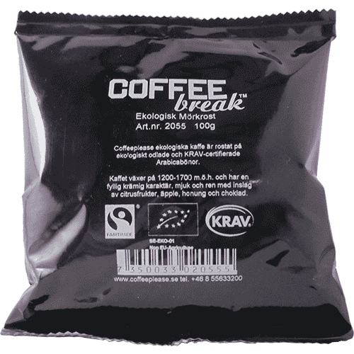 Coffeeplease økologisk mørkristet formalet filterkaffe 100g