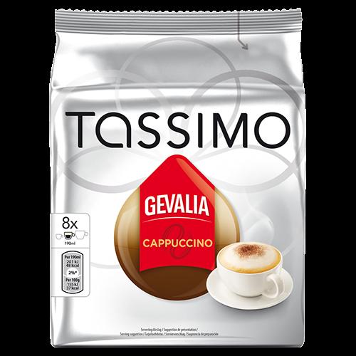 Gevalia Cappuccino Tassimo kaffekapsler 8st x5