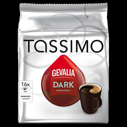 Gevalia Dark Tassimo kaffekapsler 16st