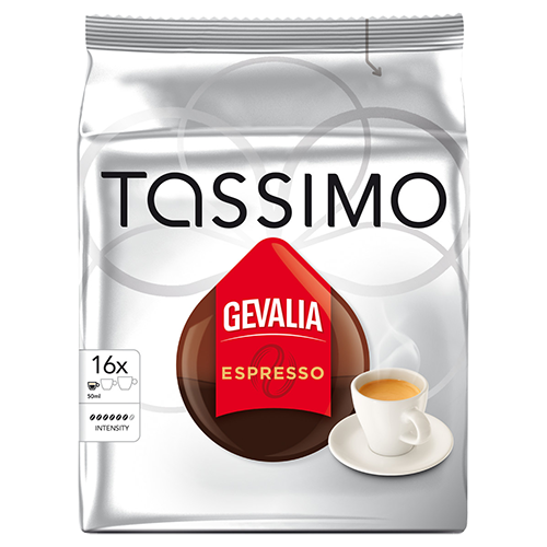 Gevalia Espresso Tassimo kaffekapsler 16st
