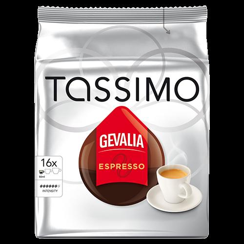 Gevalia Espresso Tassimo kaffekapsler 16st x5