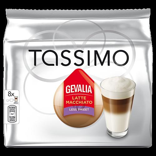 Gevalia Latte Macchiato Less Sweet Tassimo kaffekapsler 8st