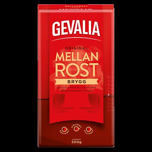 Gevalia Brygg Medium ristet formalet kaffe 450g