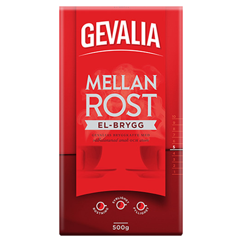 Gevalia El-brygg formalet kaffe 500g