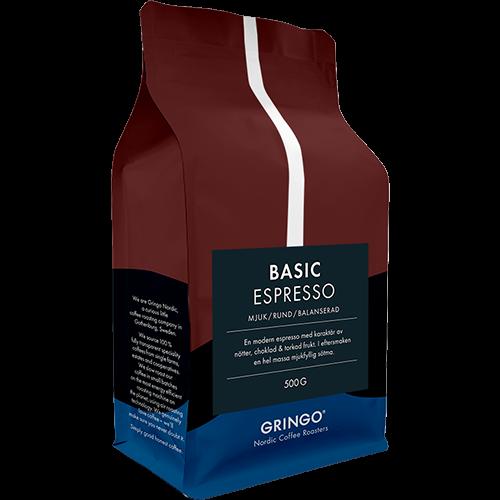 Gringo Basic Espresso kaffebønner 500g