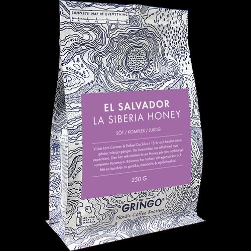 Gringo El Salvador La Siberia Honey kaffebønner 250g