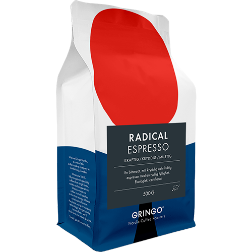Gringo Radical Espresso Eko kaffebønner 500g