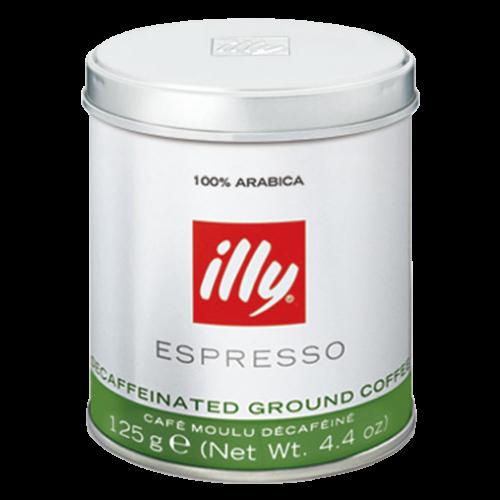illy Espresso decaffeinato formalet kaffe 125g