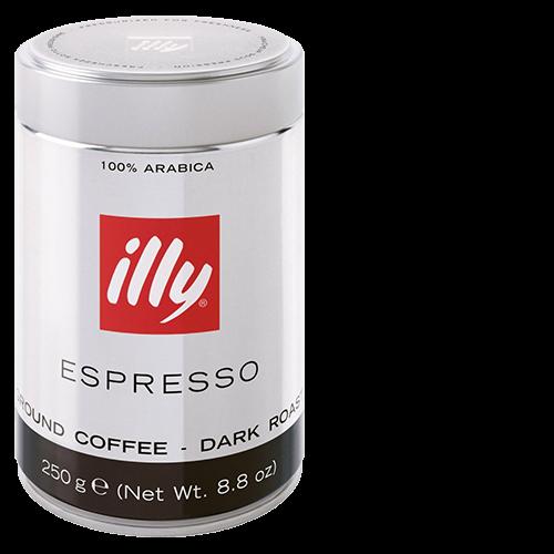 illy Espresso mørkristet formalet kaffe 250g x12
