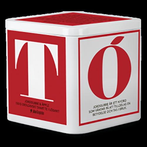 johan & nyström T-Te Jordgubbe & Äpple Ekologiskt svart te i løs vægt 150g