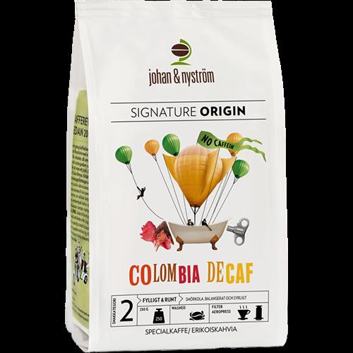 johan & nyström Colombia Decaf kaffebønner 250g