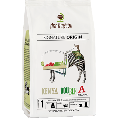 johan & nyström Kenya Double A kaffebønner 250g
