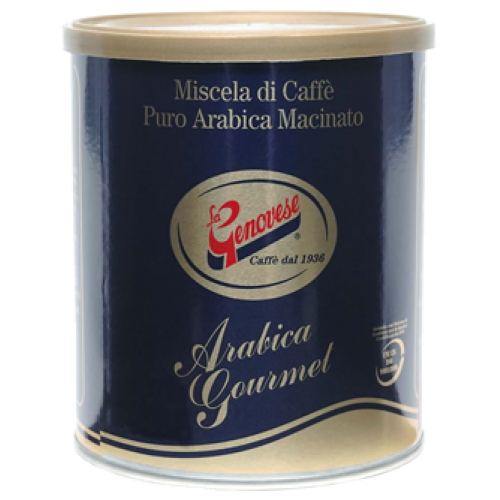 La Genovese Blue Gold Arabica dose formalet kaffe 250g