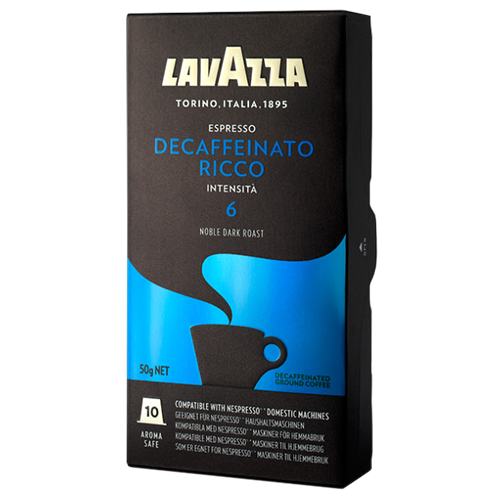 Lavazza Decaffeinato Ricco kaffekapsler til Nespresso 10st