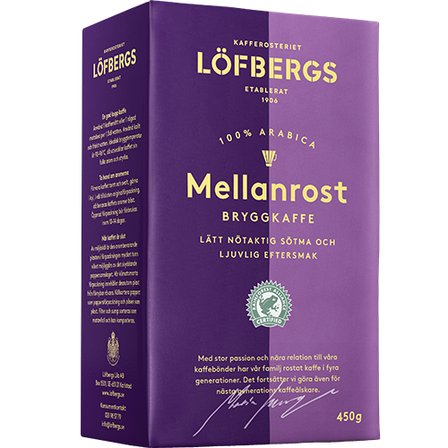 Löfbergs Lila Mellanrost formalet kaffe 450g