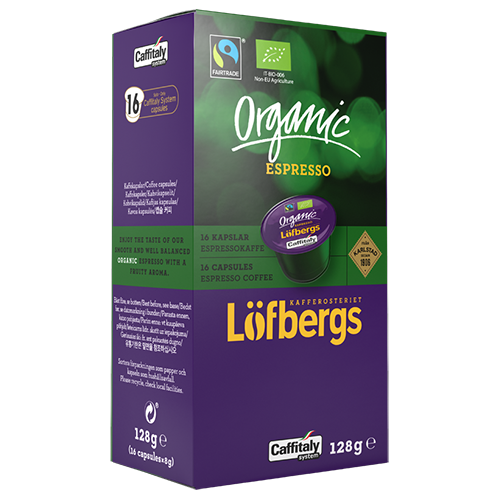 Löfbergs Lila Organic Espresso Caffitaly kaffekapsler 16st
