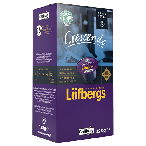 Löfbergs Lila Crescendo brygg Caffitaly kaffekapsler 16st