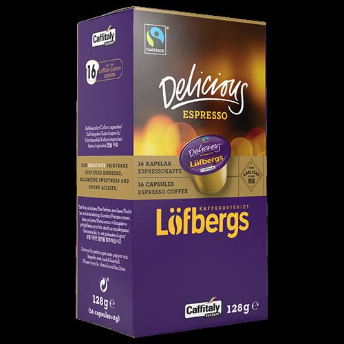 Löfbergs Lila Delicious Espresso Caffitaly kaffekapsler 16st