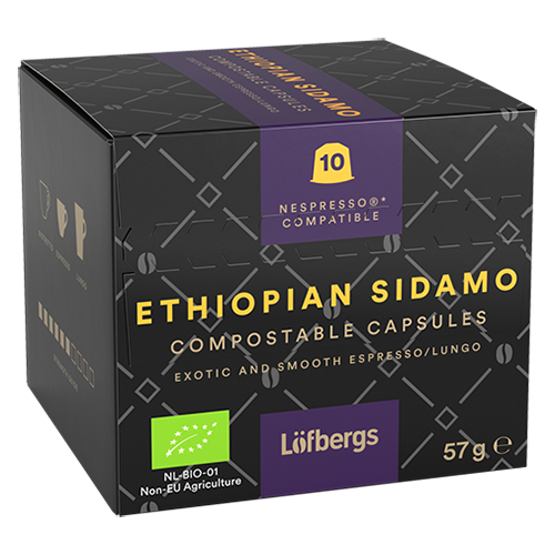 Löfbergs Lila Ethiopian Sidamo Nespresso kaffekapsler 10st