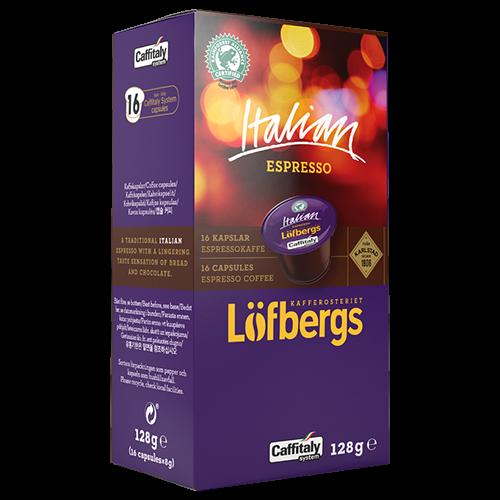 Löfbergs Lila Italian Espresso Caffitaly kaffekapsler 16st