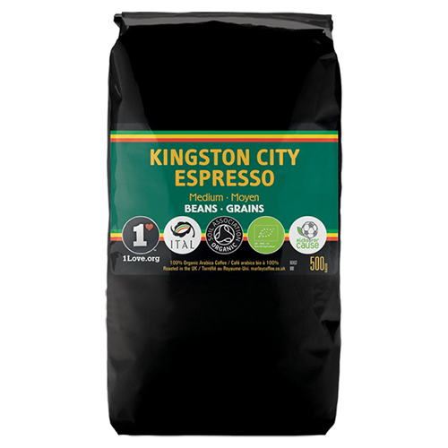 Marley Coffee Kingston City Espresso kaffebønner 500g