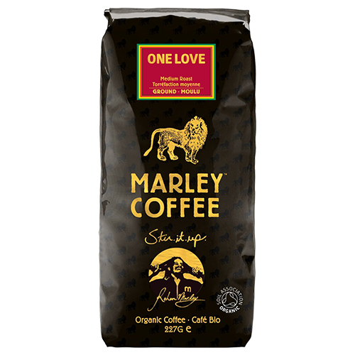 Marley Coffee One Love formalet kaffe 227g utgånget datum