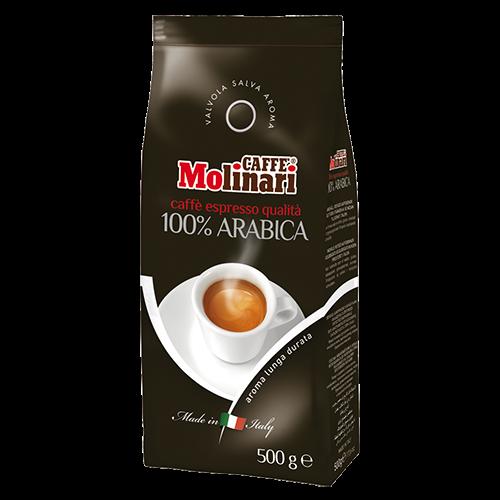 Molinari 100% Arabica kaffebønner 500g