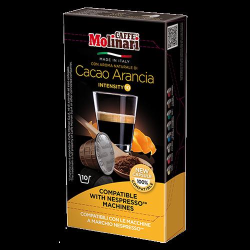 Molinari Cacao Arancia Nespresso kaffekapsler 10st