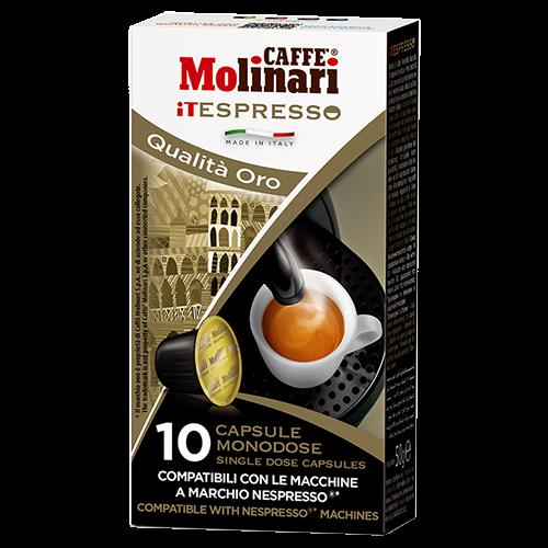 Molinari itespresso Oro Nespresso kaffekapsler 10st
