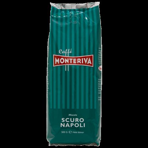 Monteriva Scuro Napoli kaffebønner 500g