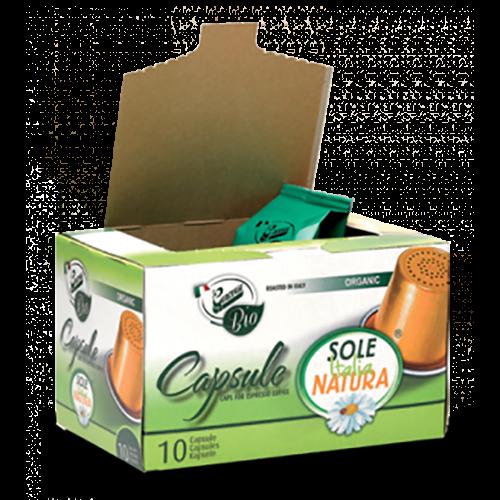 Sole Italia Natura Bio kaffekapsler til Nespresso 10st