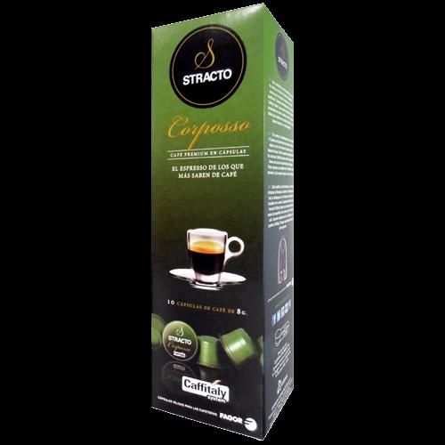 Stracto Corposso Caffitaly kaffekapsler 10st utgånget datum