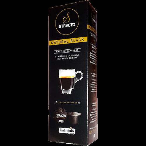 Stracto Natural Black Caffitaly kaffekapsler 10st