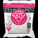 Hario V60 Kaffefiltre i hvid papir størrelse 02 100st