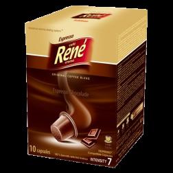 Café René Espresso Chocolade Nespresso kaffekapsler 10st utgånget datum