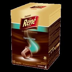 Café René Espresso Lungo Nespresso kaffekapsler 10st utgånget datum