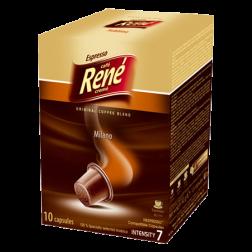 Café René Milano Nespresso kaffekapsler 10st utgånget datum