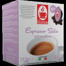 Caffè Bonini Seta A Modo Mio kaffekapsler 16st
