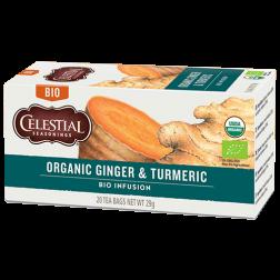 Celestial tea Organic Ginger & Turmeric tebreve 20st