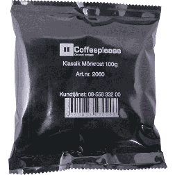 Coffeeplease mørkristet formalet filterkaffe 100g